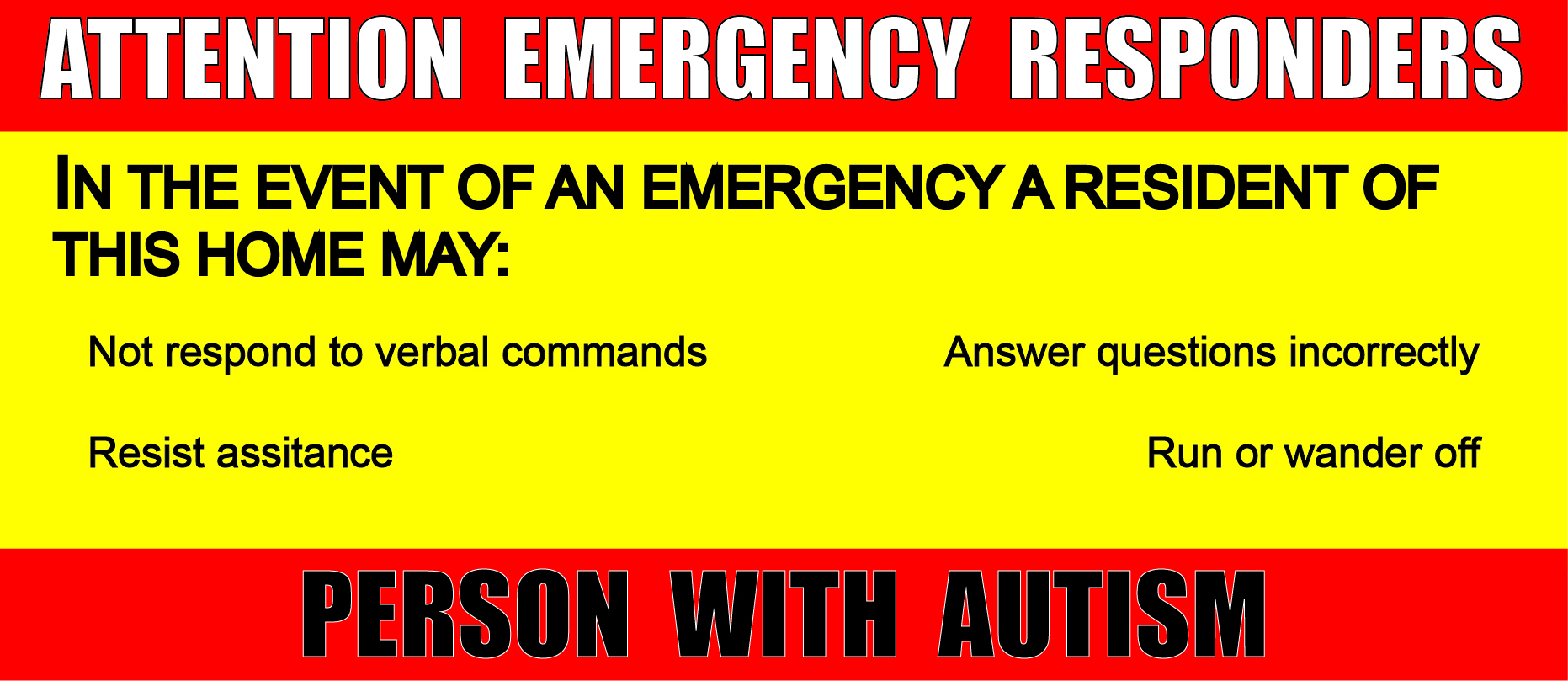 Autism Alert For First Responders
