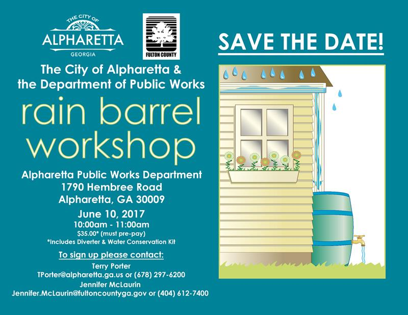 Rain Barrel Workshop Flyer