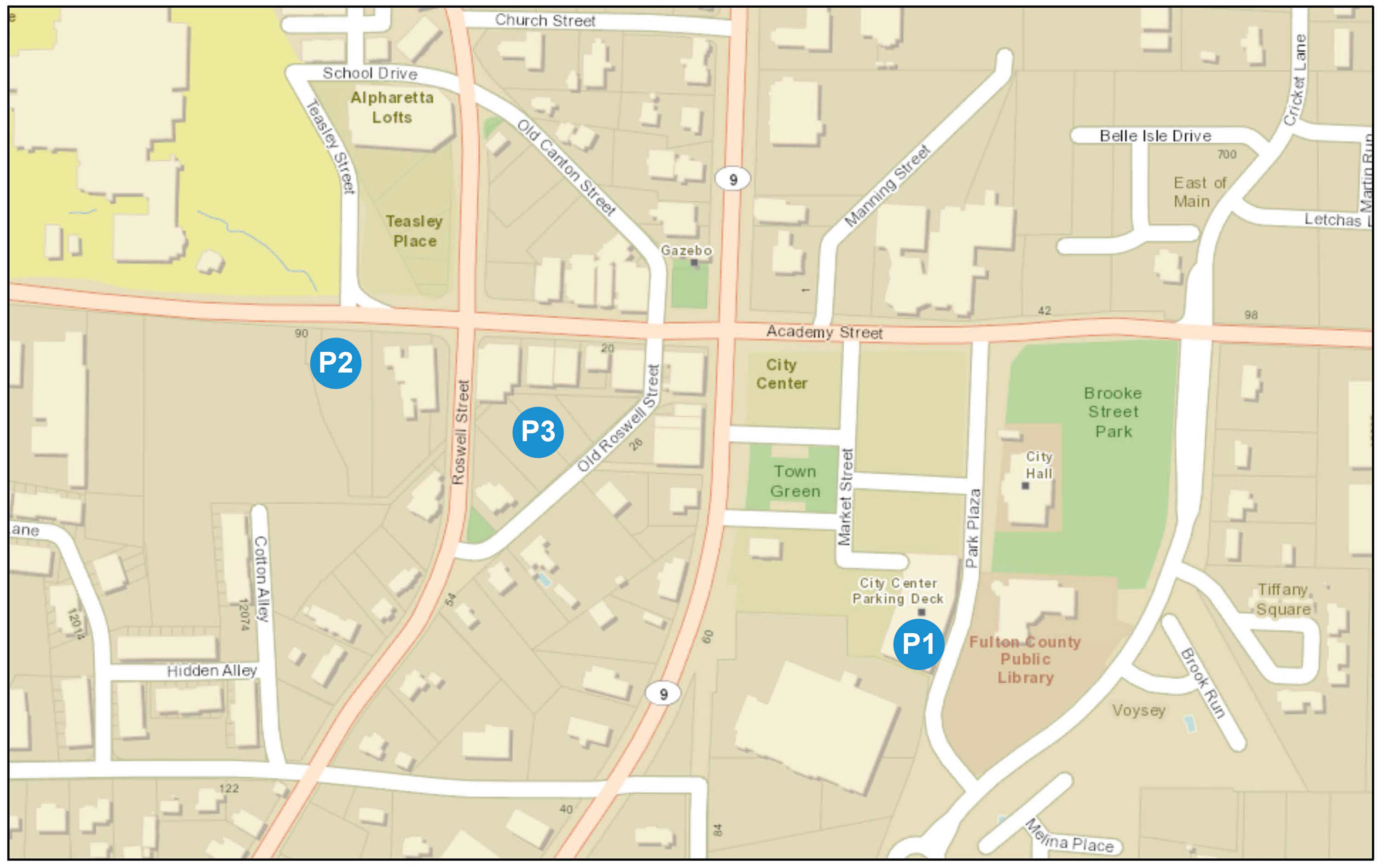 Parking Deck Locations