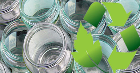Glass Jars From Top