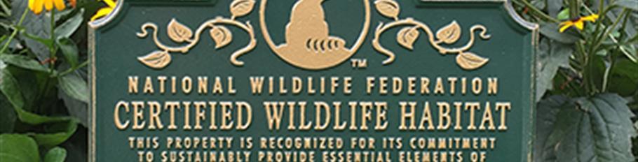 National Wildlife Habitat Signage - Photo 1
