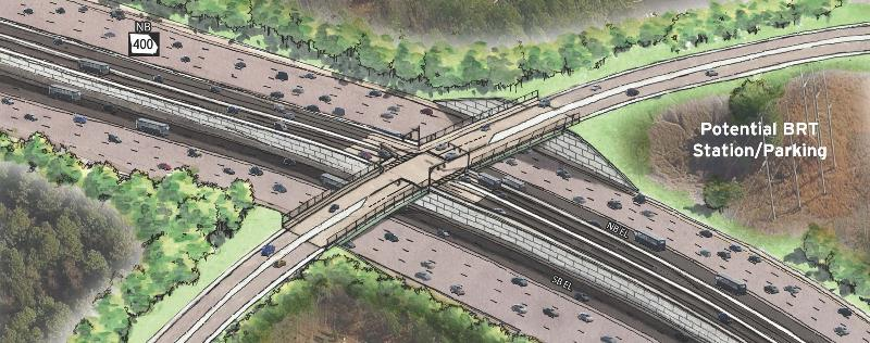 GA400 Express Lane Access Ramp Concept Image