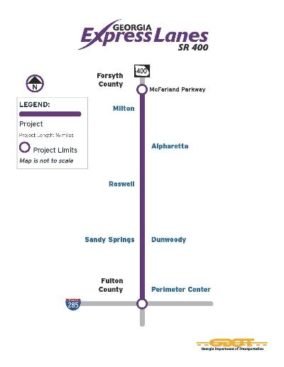 GA400 Express Lane Project Map