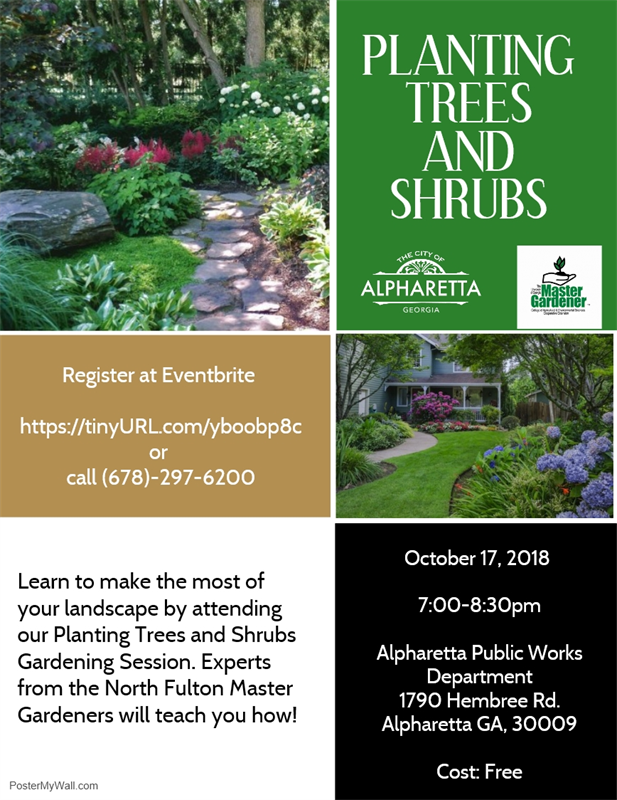 Planting Trees and Shrubs Flyer