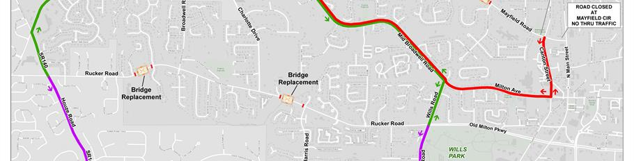 Rucker And Mayfield Road Projects Detour Plan
