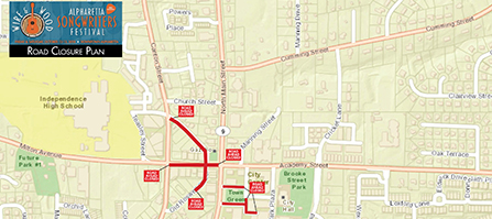 Wire And Wood Road Closure Plan Map - Small