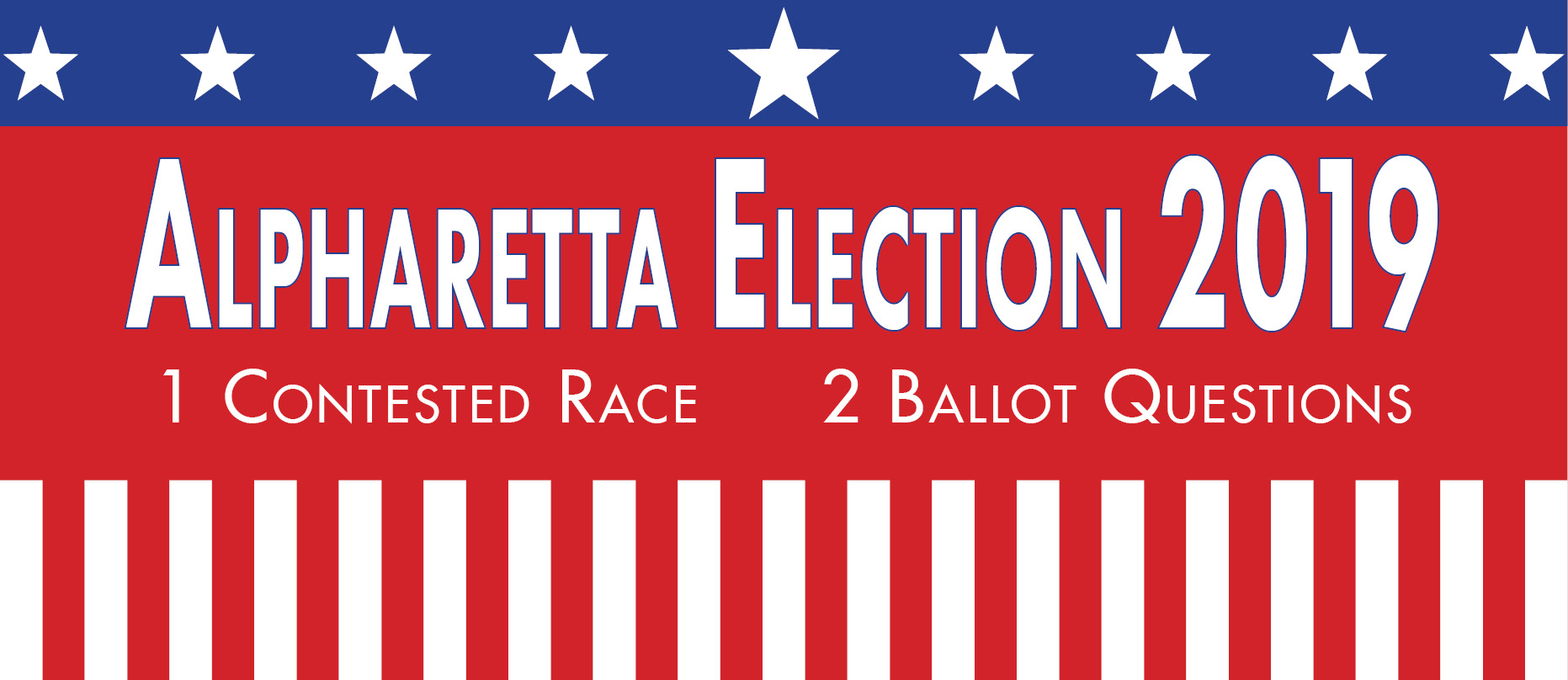 Alpharetta Election 2019 News Item Graphic