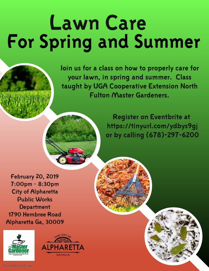 Alpharetta To Host A Workshop On Lawn Care For Spring And