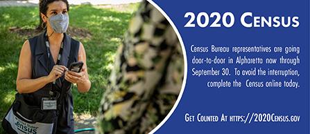 US Census Bureau employee interviewing citizen