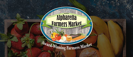 Alpharetta Farmers Market sign