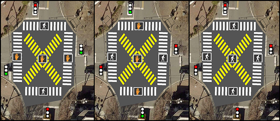 Pedestrian Scramble Launch - News Graphic